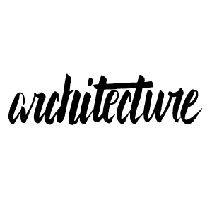 architecture brush calligraphy